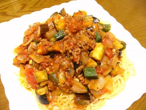 14 8 スパゲッテイ 夏野菜1