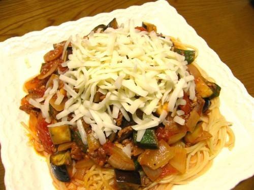 14 8 スパゲッテイ 夏野菜2 チーズ